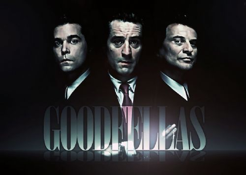 1990's Movie - GOODFELLAS - LOGO FADE BLACK canvas print - self adhesive poster - photo print